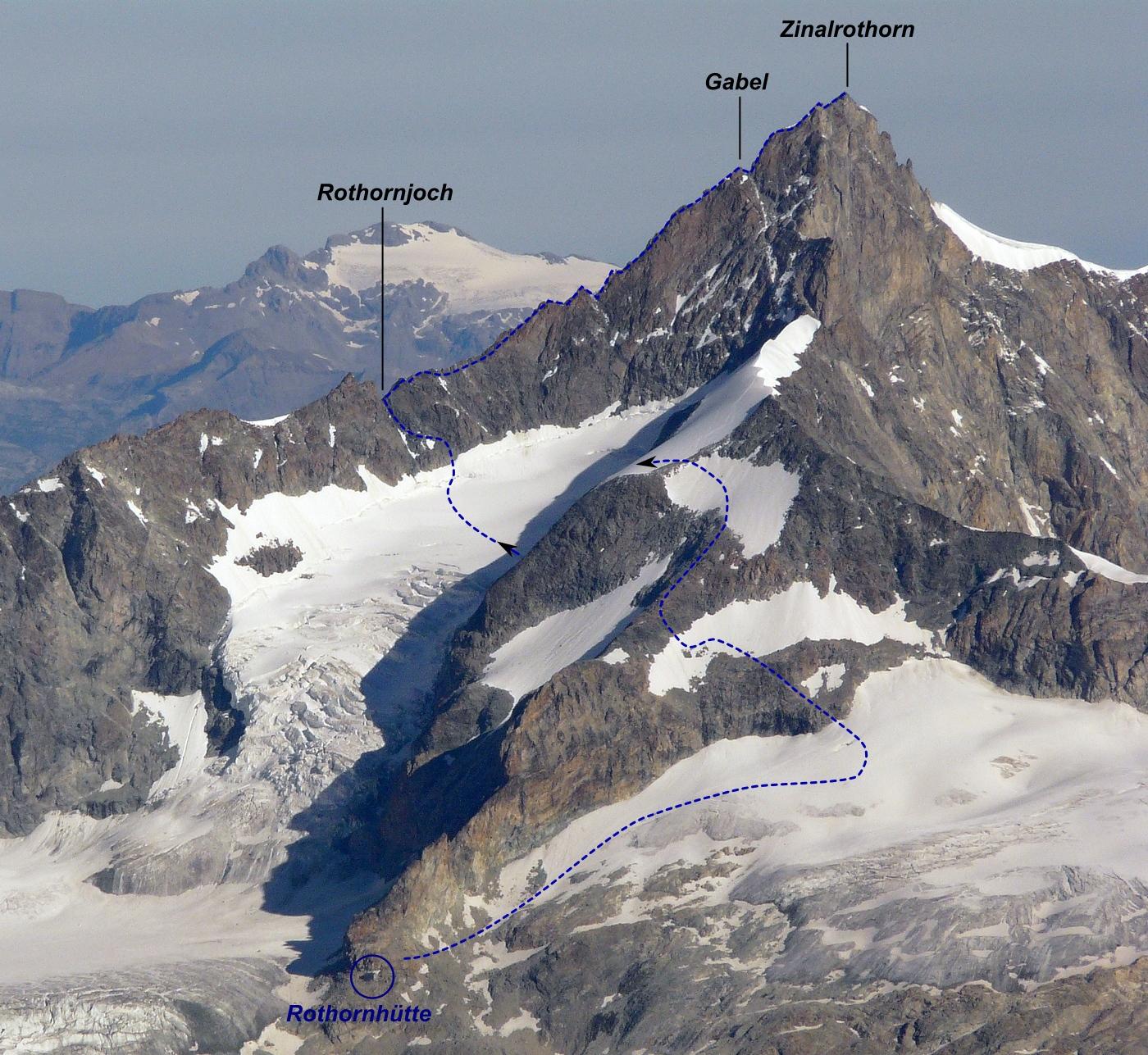 Rothorngrat_versante_Zermatt