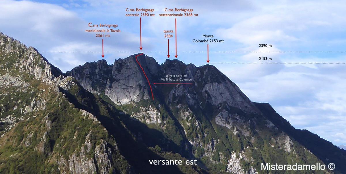Le cime di Berbignaga viste da est